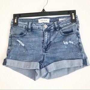 PacSun Distressed Super Stretch Shortie Shorts
